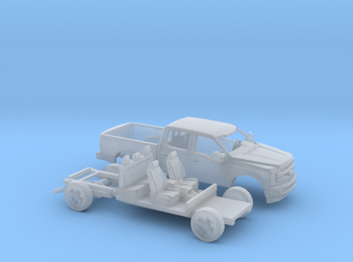 1/87 2017 Ford F-Series Crew/Reg.Bed Kit 3d printed