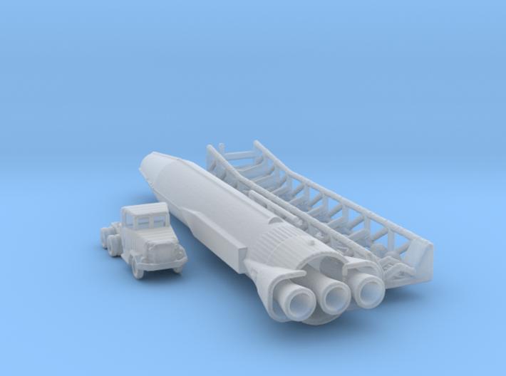 1/285 Scale Atlas Missile Set 3d printed