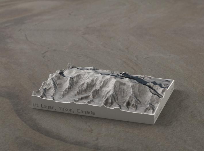Mt. Logan, Yukon, Canada, 1:250000 Explorer 3d printed