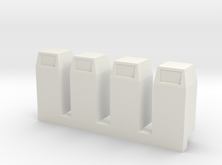 HO Scale Urban / Park Trash Cans- set of 4 3d printed