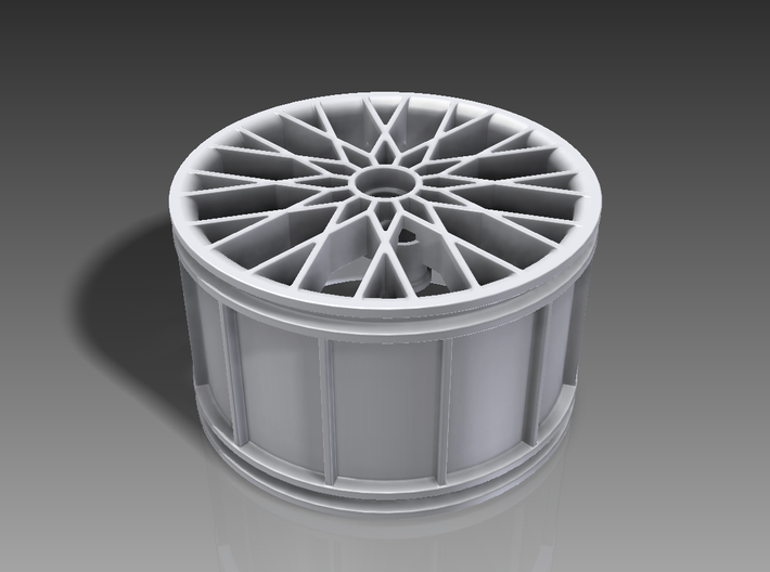 Multispoke Racing Wheel Medium 3d printed