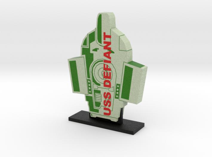 USS Defiant Display = DESKAPADES = 3d printed