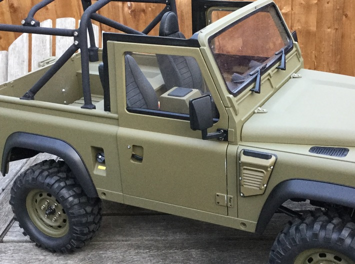 Land Rover Defender Slotted Style Door Handles 3d printed