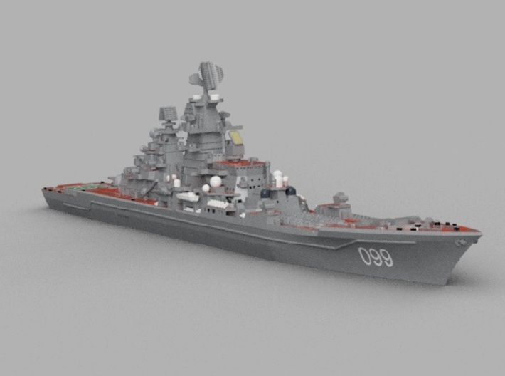 1/1800 RFS Pyotr Velikiy 3d printed Computer software render.The actual model is not full color.