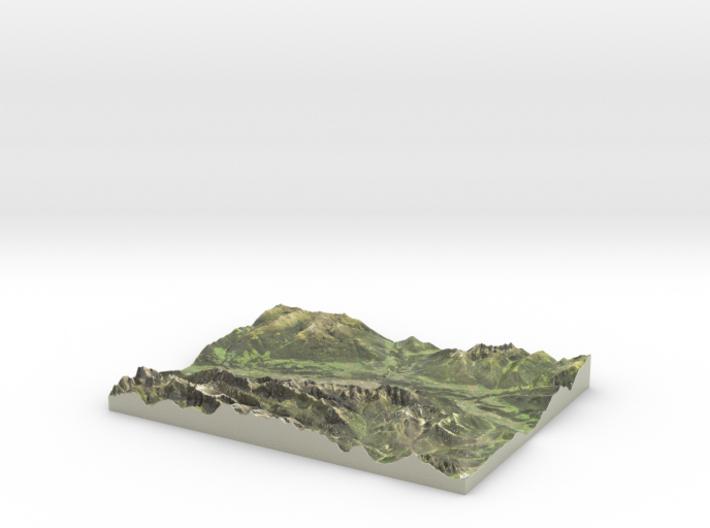 Innsbruck Map, Austrian Alps 3d printed