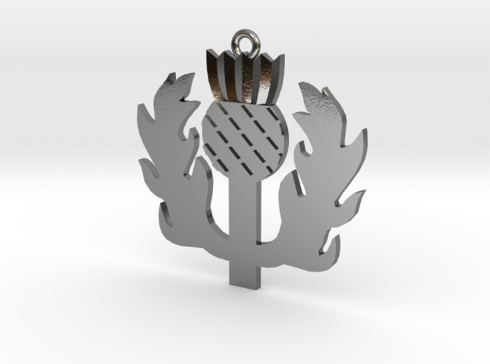 Scottish Thistle Pendant 3d printed