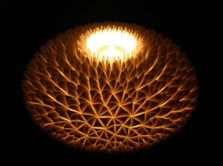 The Chrysanthemum Centrepiece 3d printed Chrysanthemum lit with LED tealight