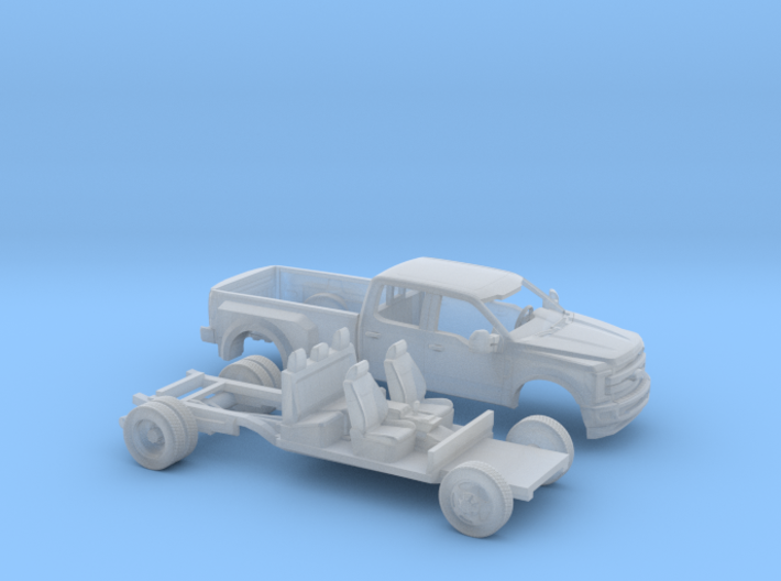 1/87 2016 Ford F-Series Crew/Dually Bed Kit 3d printed