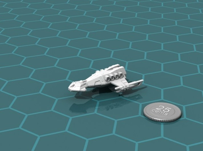 Ngaksu Willawaw 3d printed Render of the model, with a virtual quarter for scale.