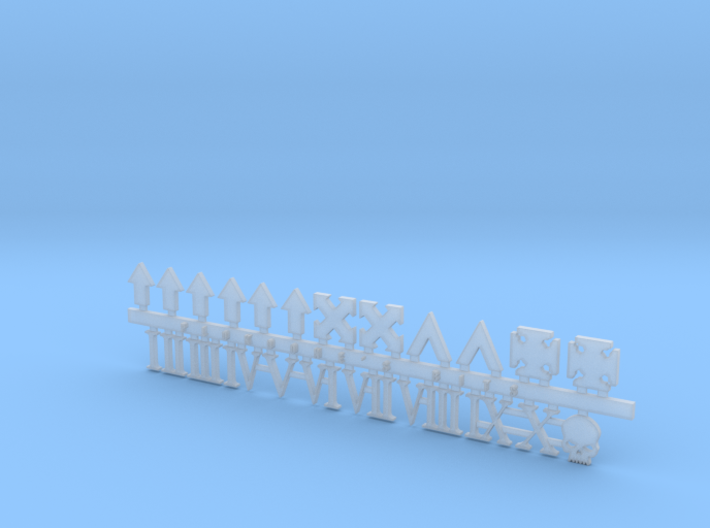 Vehicle Icons With Numerals 3d printed
