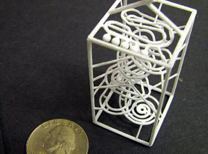 Super Tiny RBS Marble Run Rolling Ball Sculpture 3d printed printed08