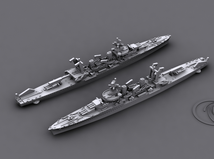 1/1800 MN CL La Galissonniere [1940] 3d printed Computer software render