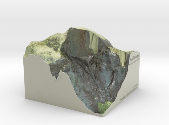 Yosemite - Half Dome Map: 6 inch 3d printed
