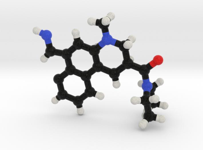LSD Molecule Model. 3 Sizes. 3d printed