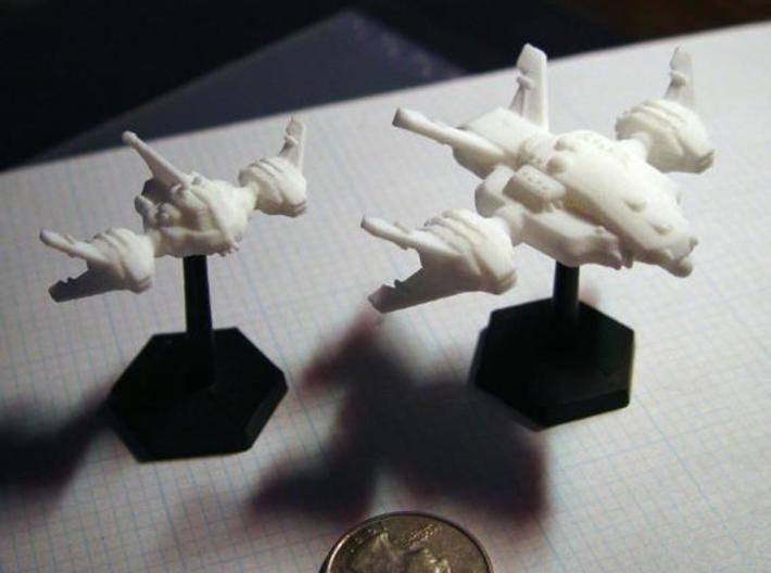 Ryuushi Warleader 3d printed Warleader and Dominator flying in formation.