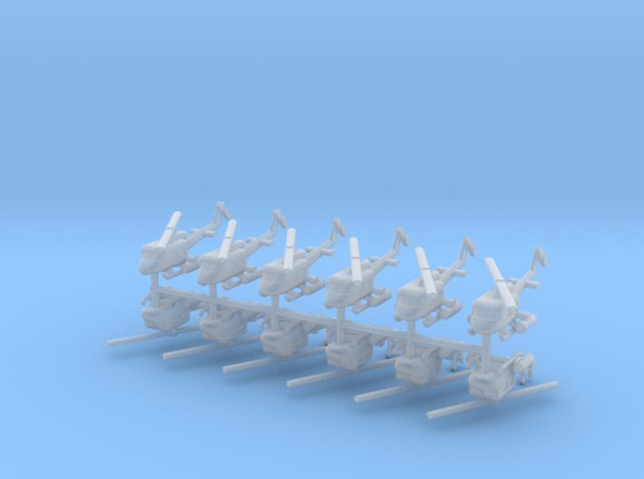 1/550 UH-1 Gunship (x12) 3d printed