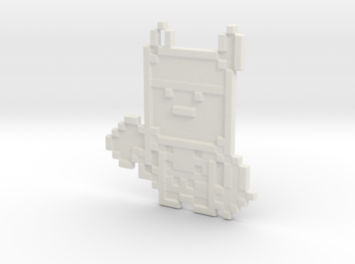 Pixel Thor Keychain 3d printed