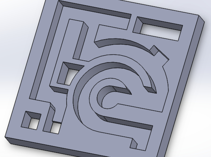 3D Maze 3d printed A single layer of the maze