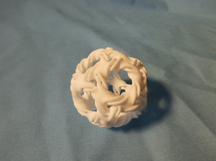 Icosidodeca-ducov (no holes) 3d printed