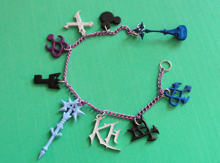 Kingdom Hearts Charms Extra Set 3d printed