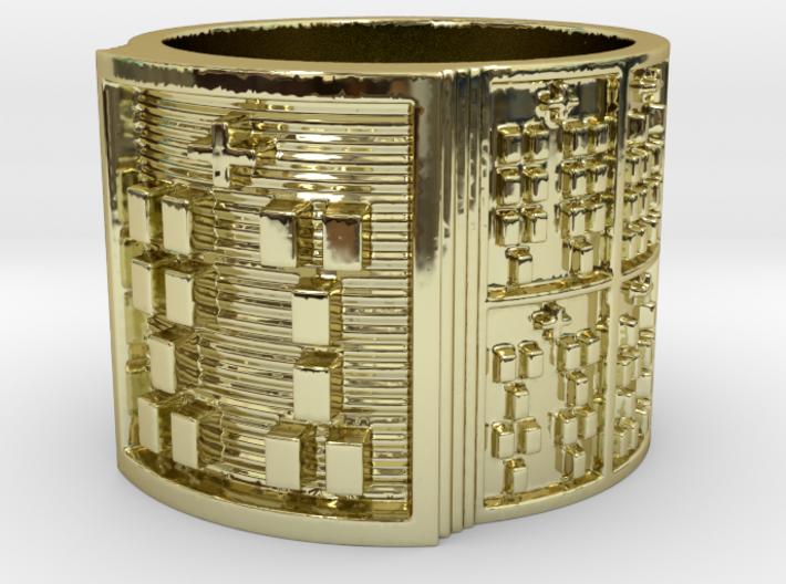 IWORIBATRUPON Ring Size 13.5 3d printed