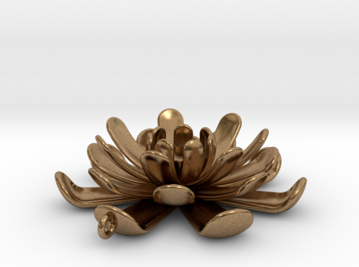 Water Lily Pendant 3d printed