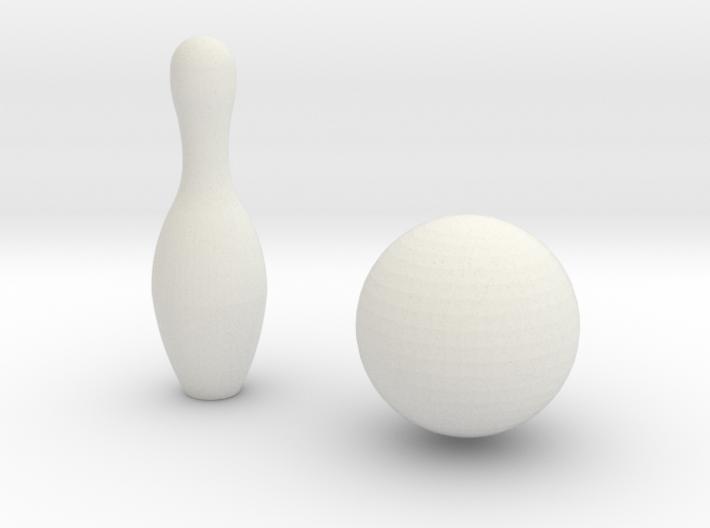 1:6 Bowling Pin And Ball 3d printed