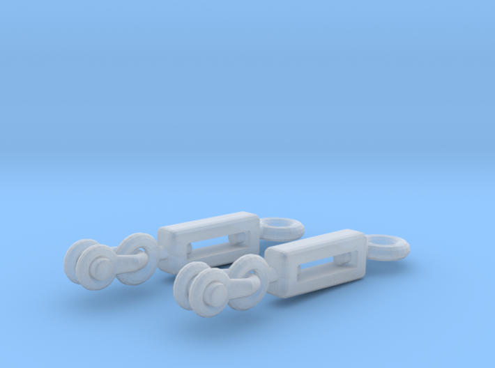 1/32 Uboot VII C41 Conning Tower Turnbuckles SET 3d printed