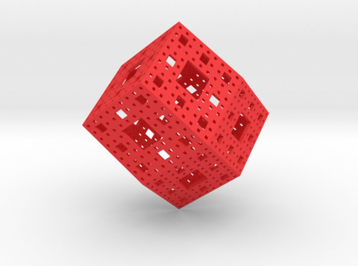 Rhombic Dodecahedron Menger Frame 3d printed