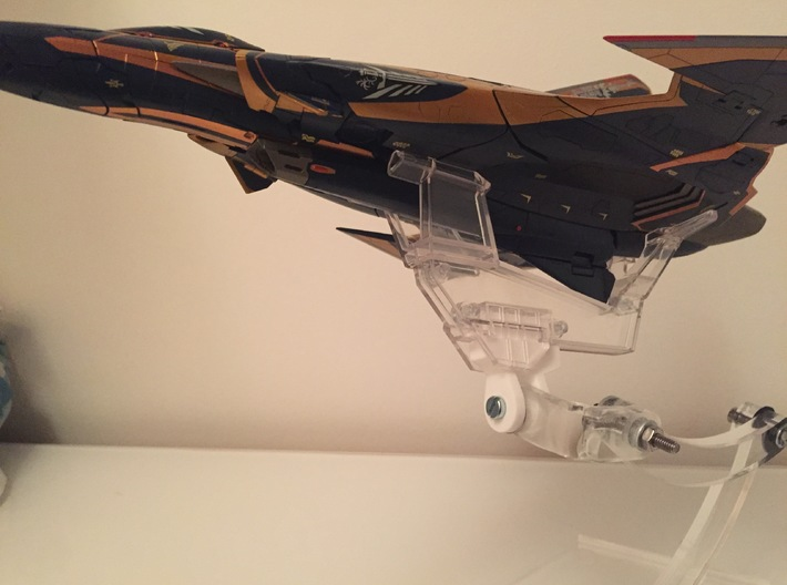 Bandai Attach V13b (Draken III compatible) 3d printed Installed on an acrylic stand