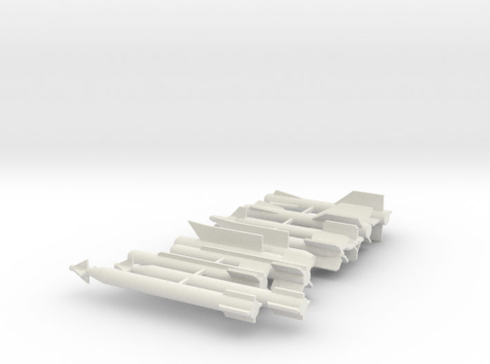Modern Fighter jet weapons and Rockets 3d printed