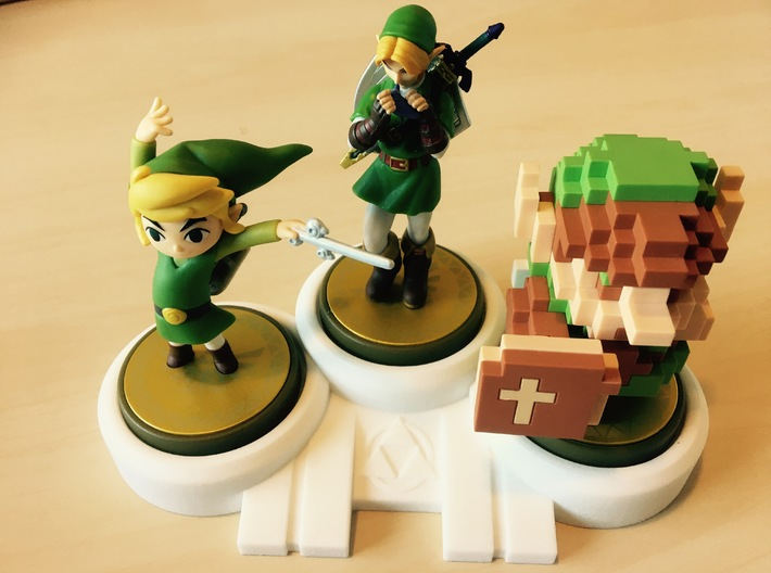 Legend of Zelda themed Amiibo Display Stand 3d printed