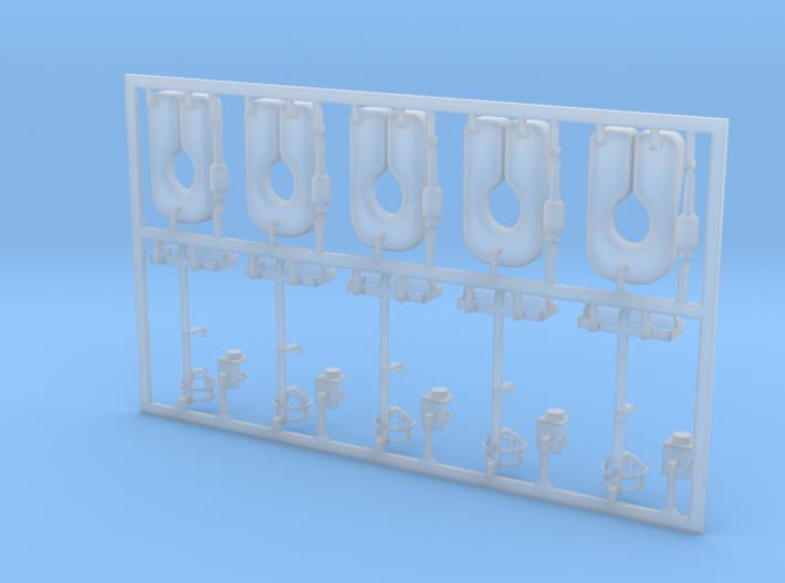 5 Stück Rettungsweste Typ-A mit Blitzboje u. Halte 3d printed
