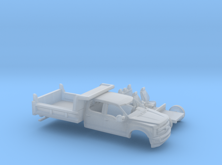 1/87 2017 Ford F-Series Crew/Dump Bed Kit 3d printed