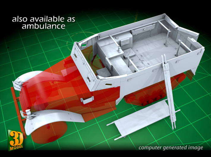 M14 Halftrack conversion (1/35) 3d printed Also available as M14 ambulance conversion