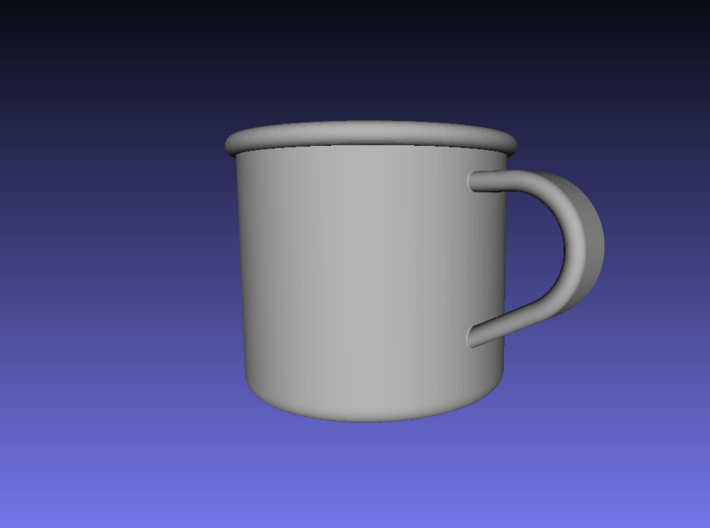 1/6 Scale WWII British Drinking Cup (1) 3d printed