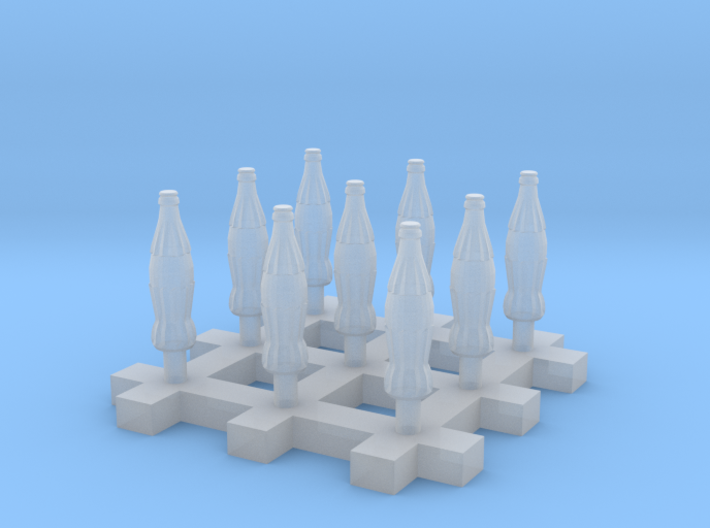 Soda Bottle 9x 20cl/6.7oz 1:35 54mm Scale 3d printed