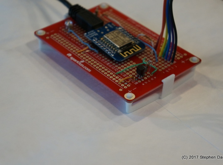 ProtoBoard Clip 3d printed Mounting Clip with circuit board