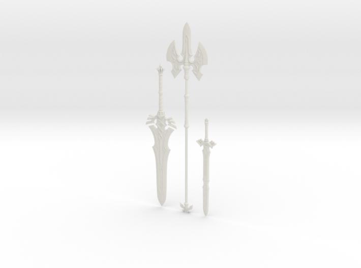 """BotW"" Royal Weapons Set 3d printed"
