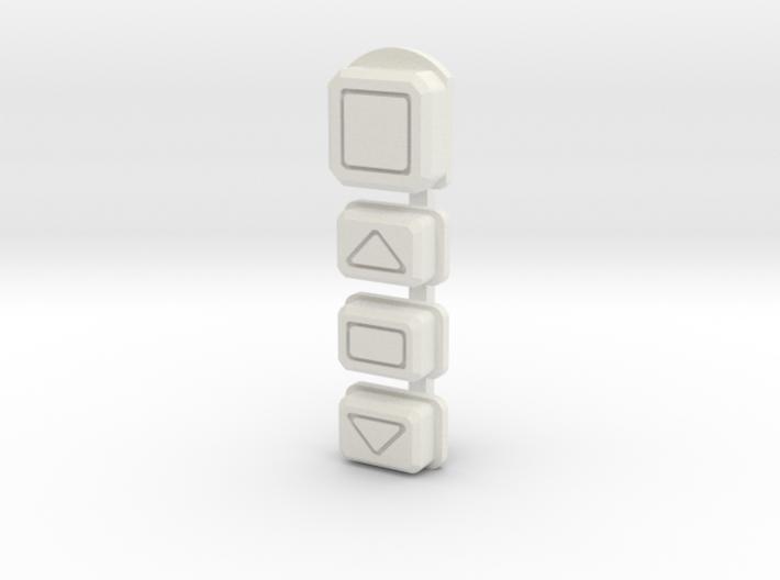 DNA75 Color DNA75C Faceplate v2 button set 3d printed