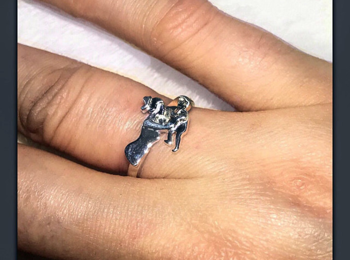 Mother-Son Ring - Motherhood Collection 3d printed A happy Etsy customer supplied this photo