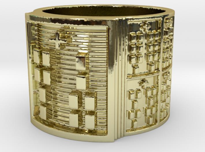 IROSOJUANI Ring Size 13.5 3d printed