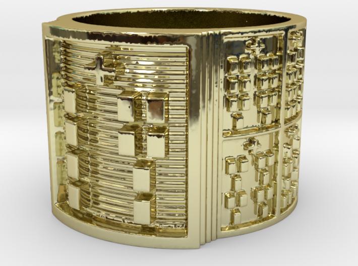 OJUANISHOBE Ring Size 14 3d printed