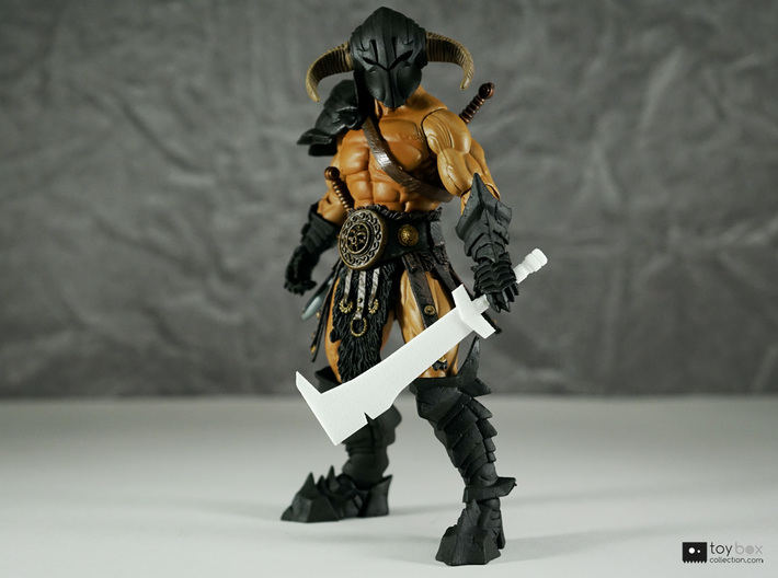Orc Hunter sword (style 1) for Mythic Legions 3d printed