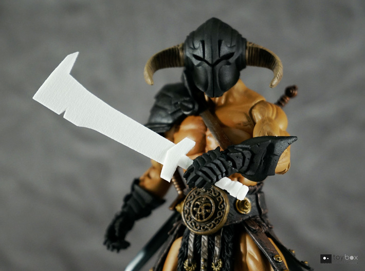 Orc Hunter sword (style 1) for Mythic Legions 3d printed Fits perfectly in hand