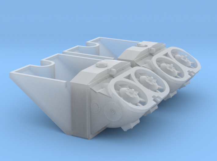 1/30 Tiger I Radiators, Cooling Fans & Ducts 3d printed