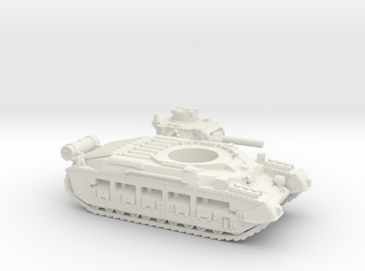 Matilda II with Fuel tank (British) 1/87 3d printed