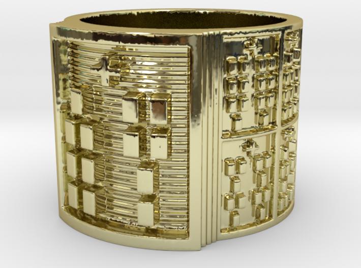 RING OJUANIBARA Ring Size 11-13 3d printed