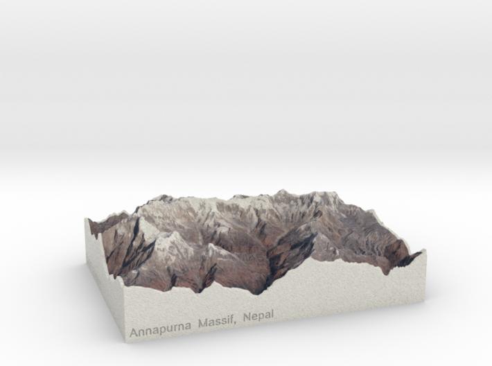 Annapurna Massif, Nepal, 1:250000 Explorer 3d printed