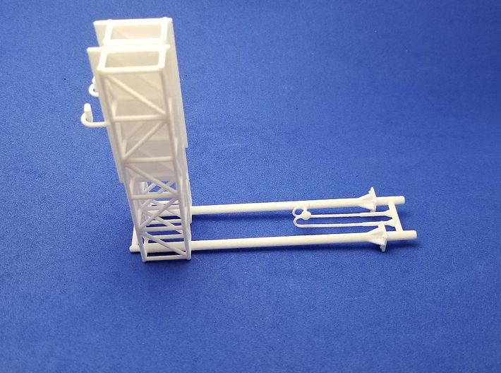 Highway Cantilever Sign With CCTV 1-87 HO Scale 2  3d printed